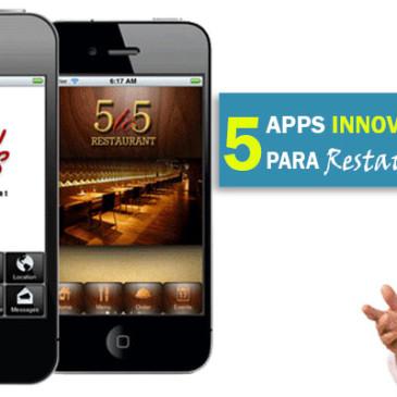 5 Apps Innovadoras para Restaurantes