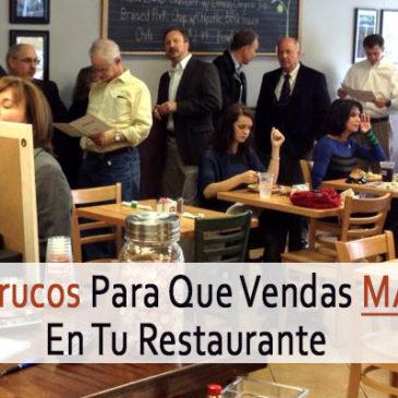 10 Trucos Para Que Vendas Más En Tu Restaurante